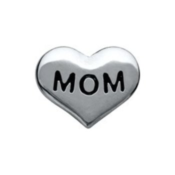 Bedel Heart Mom voor Memory Lockets