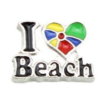 Bedel I Love Beach voor Memory lockets