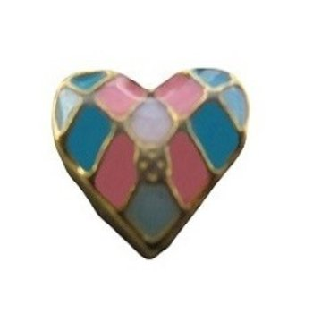 Bedel Heart multicolor voor Memory Lockets