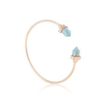 Armband Boho goud-turqoise