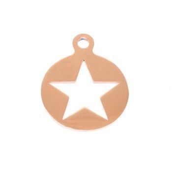 Charm koper Star voor Pinkiezz Muntketting