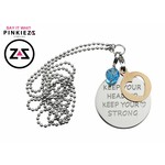Charm koper Tree of Life voor Pinkiezz Muntketting