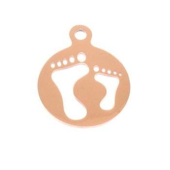 Pinkiezz Charm koper Feet voor Pinkiezz Muntketting