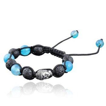 Armband Shamballa Boeddha blue