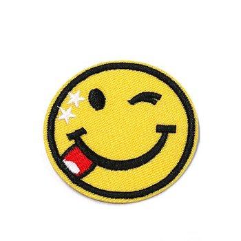 Jeans Patch Crazy Smile