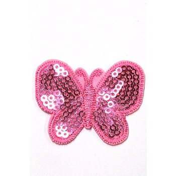 Jeans Patch Butterfly pink