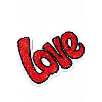 Jeans Patch Love red