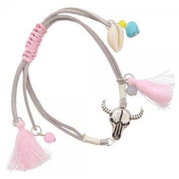 Armband Buffalo grijs-roze