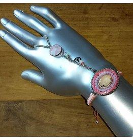 Armband handsieraad Ibiza roze