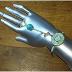 Armband handsieraad Ibiza mint-turqoise