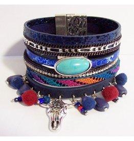 Armband exclusief Ibiza blauw Buffalo104