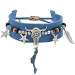 Armband Ibiza blauw Buffalo