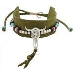 Armband Ibiza groen Buffalo