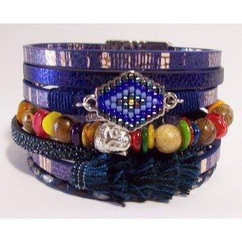 Armband exclusief Ibiza blauw 111