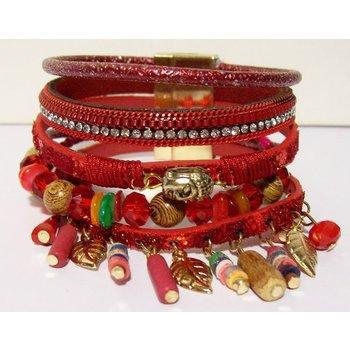 Armband exclusief Ibiza rood 121