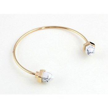 Armband Boho goud-wit