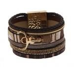 Armband exclusief Ibiza bruin-goud Buffalo 123