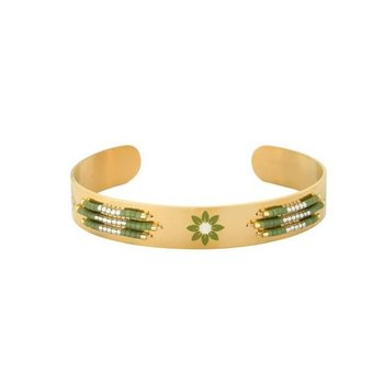 Yehwang Armband Spring Beads gold stainless