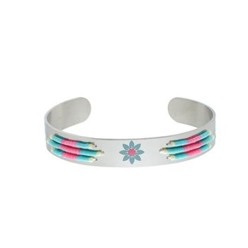 Yehwang Armband Spring Beads silver stainless