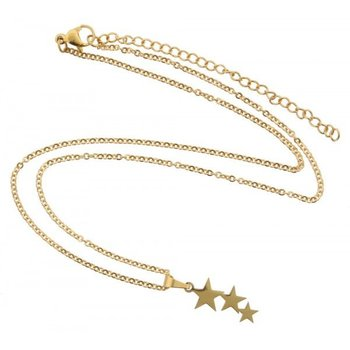 Ketting gold Stars stainless steel