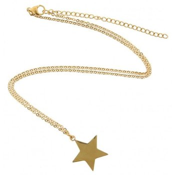 Ketting gold Star stainless steel