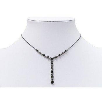 Ketting Y-necklace zwart-antraciet
