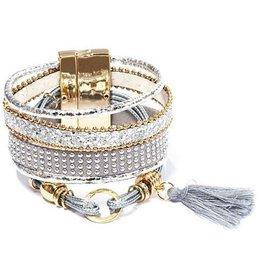 Armband Ibiza exclusief zilver-goud 130