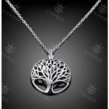 Ketting Tree of Life & oorbellen zilver