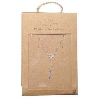 Yehwang Ketting Triangle & Bar 925 zilver
