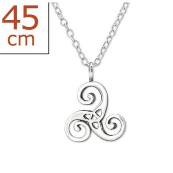 Precious Jewel Ketting Karma keltisch 925 zilver