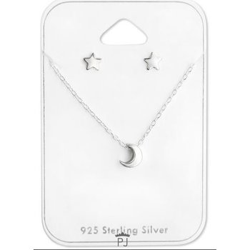 Precious Jewel Ketting zilver 925 Little Moon & Star studs