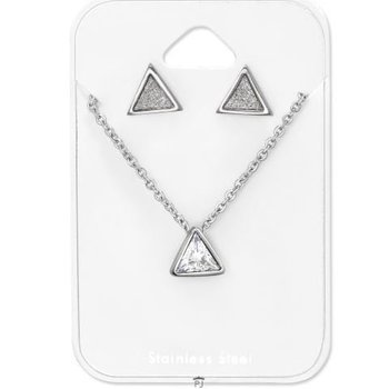 Precious Jewel Ketting Triangle stainless steel & studs