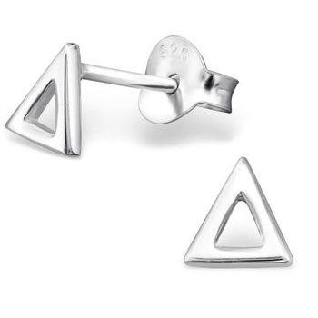 Oorbellen zilver 925 open Triangle studs