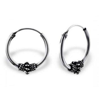 Precious Jewel Oorbellen zilver Bali creolen 14 mm
