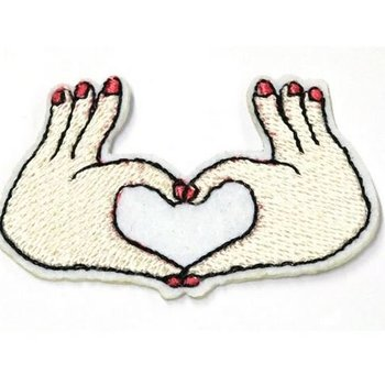 Jeans Patch Hands with Heart