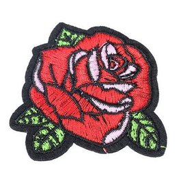 Jeans Patch Red Rose