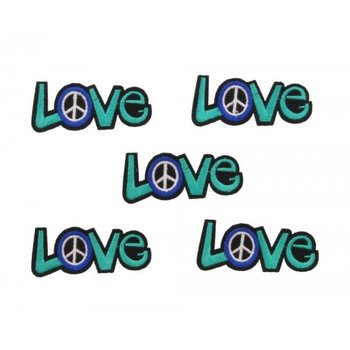 Jeans Patch Love green