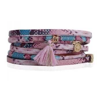 Armband wrap Ibiza nude-pink