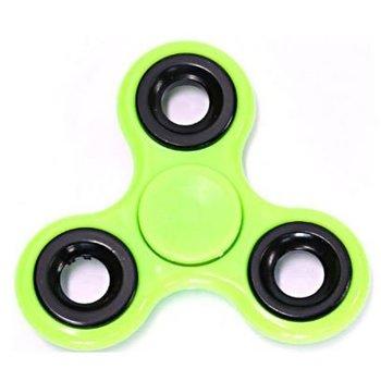 Fidget Spinner fluor groen-zwart