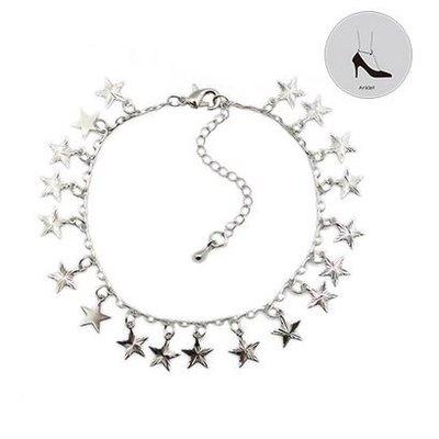 Enkelbandje Stars zilver