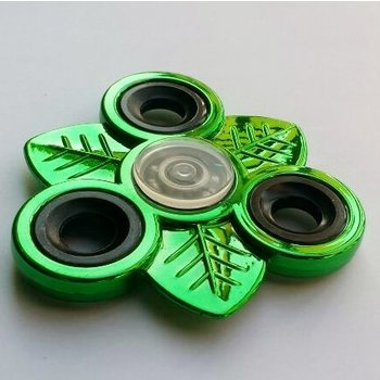Fidget Spinner Leaves Metallic Green