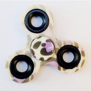 Fidget Spinner Special Design camouflage paars-zwart