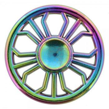 Fidget Spinner Luxe metaal Rainbow Wheel
