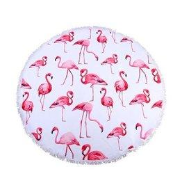 Roundie Beach Towel Flamingo