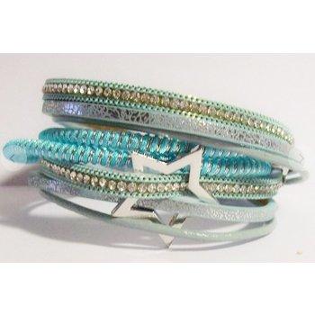 Armband wrap Stars turqoise
