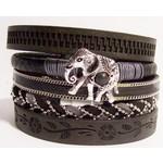 Armband exclusief Ibiza zwart olifant