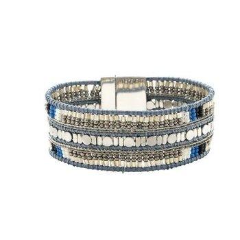 Armband exclusief Ibiza grijs Beads