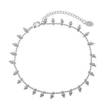 Yehwang Enkelbandje zilver Tiny Beads