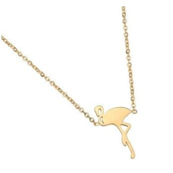 Ketting Flamingo stainless steel gold