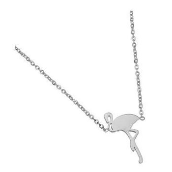 Yehwang Ketting Flamingo stainless steel silver